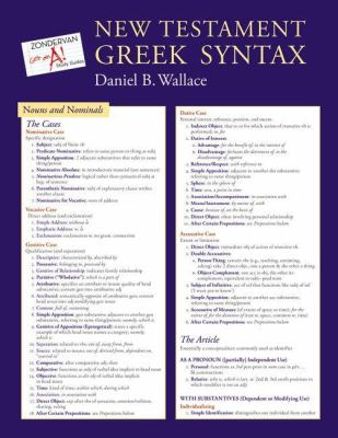 New Testament Greek Syntax 9780310292081