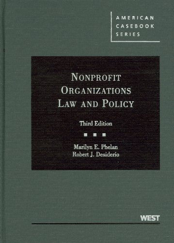 Nonprofit Organizations Law and Policy 9780314207579