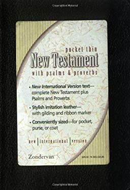 Pocket Thin New Testament with Psalms & Proverbs-NIV 9780310902140
