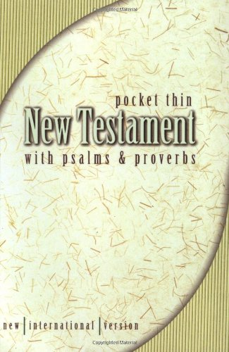 Pocket Thin New Testament with Psalms and Proverbs-NIV 9780310902133