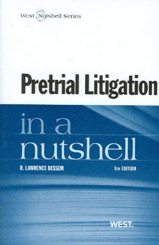 Pretrial Litigation in a Nutshell 9780314273963