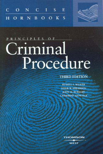 Principles of Criminal Procedure 9780314190925