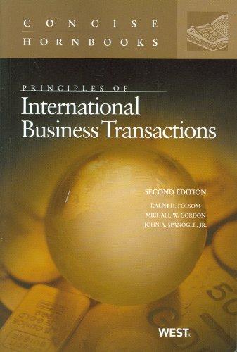 Principles of International Business Transactions 9780314906830