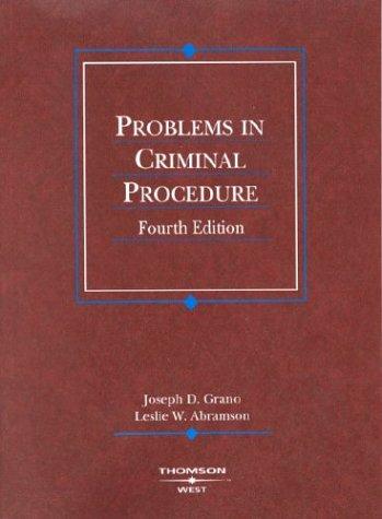 Problems in Criminal Procedure 9780314150035