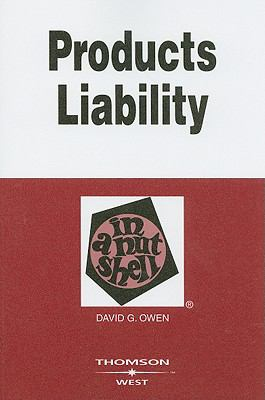 Products Liability in a Nutshell 9780314170866