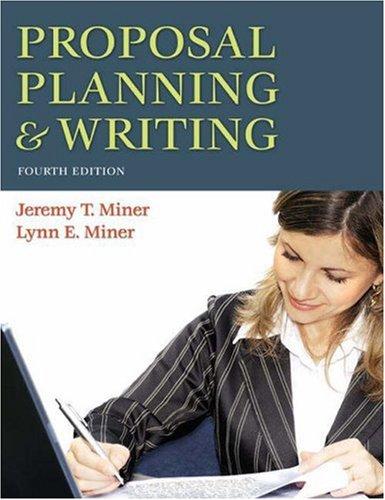 Proposal Planning & Writing 9780313356742