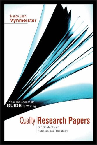 Quality Research Papers: For Students of Religion and Theology 9780310239451
