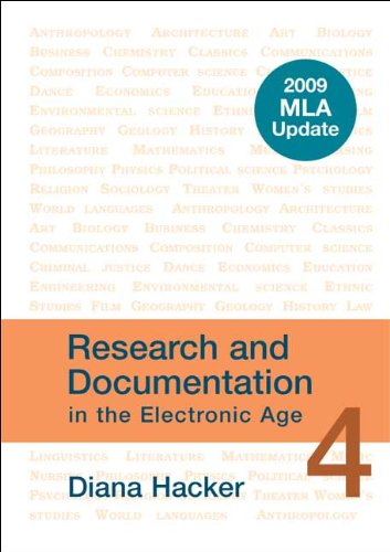Research and Documentation in the Electronic Age: 2009 MLA Update 9780312593384