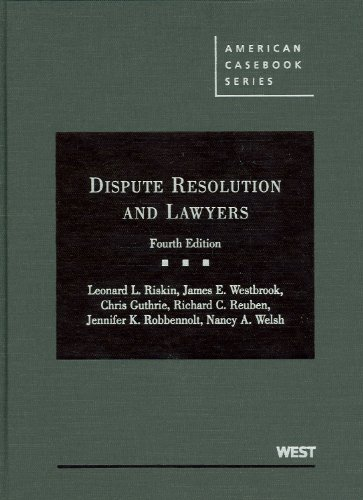 Dispute Resolution and Lawyers 9780314195746