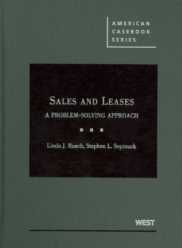 Sales and Leases: A Problem-Solving Approach 9780314192035
