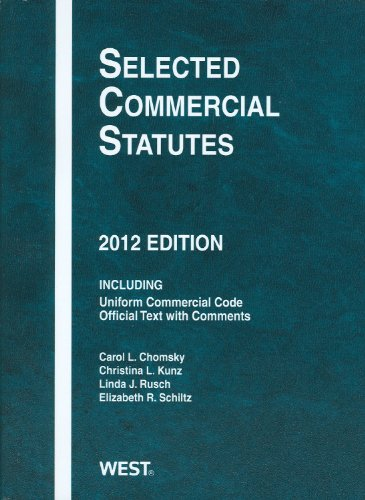 Selected Commercial Statutes, 2012 9780314282552