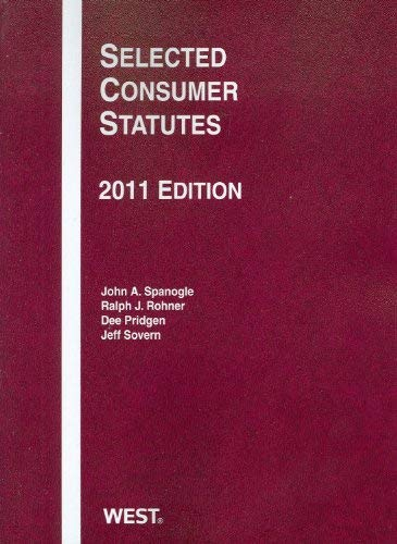 Selected Consumer Statutes 9780314274755