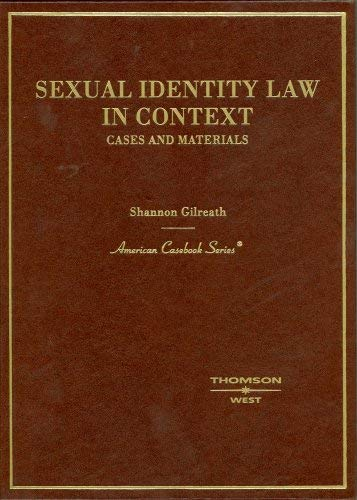 Sexual Identity Law in Context: Cases and Materials 9780314176189