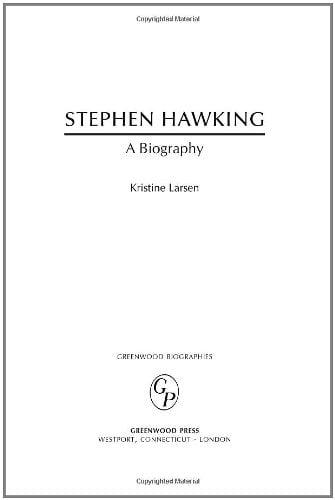 Stephen Hawking: A Biography 9780313323928