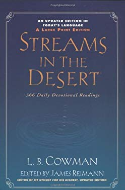 Streams in the Desert, Large Print: 366 Daily Devotional Readings 9780310221296