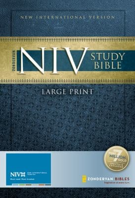 Study Bible-NIV-Large Print 9780310939221