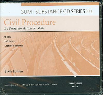 Miller's Sum & Substance Audio on Civil Procedure, 6th (CD) 9780314261809