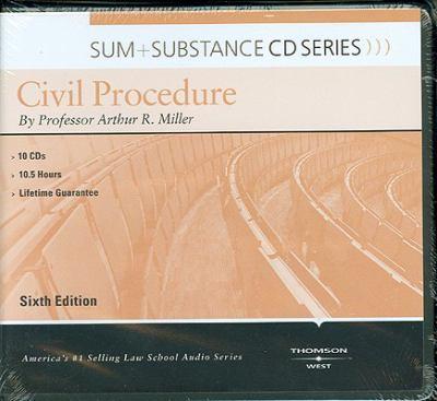 Miller's Sum & Substance Audio on Civil Procedure, 6th (CD)