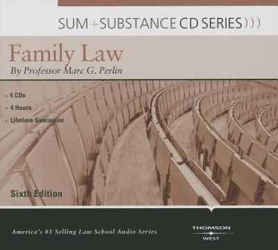 Sum and Substance Audio on Family Law, 6th 9780314279521