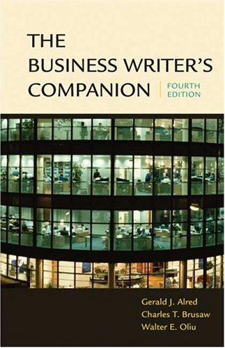 The Business Writer's Companion 9780312413255