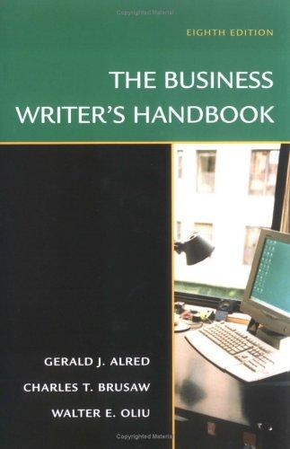 The Business Writer's Handbook 9780312352684