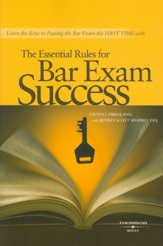 The Essential Rules for Bar Exam Success 9780314176783