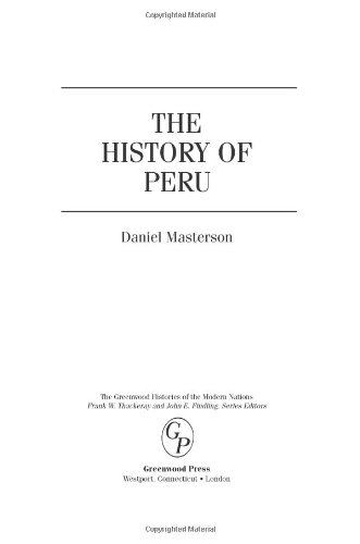 The History of Peru 9780313340727