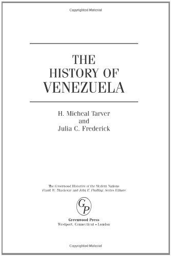 The History of Venezuela 9780313335259
