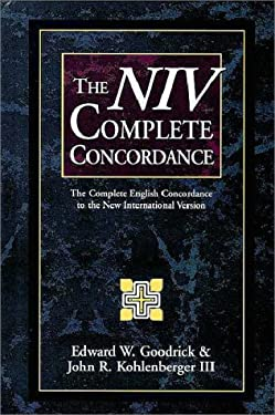 The NIV Complete Concordance: The Complete English Concordance to the New International Version 9780310436508