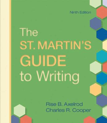 """st martins guide to writing Rampolla's book """"a pocket guide to writing in history"""" published by bedford-st  martin's march 14, 2012, 12:59 pm associate professor of history dr mary."""