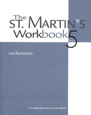 The St. Martin's Workbook 9780312398347