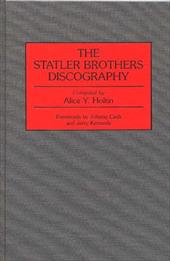 The Statler Brothers Discography - Holtin, Alice Y. / Kennedy, Jerry / Cash, Johnny
