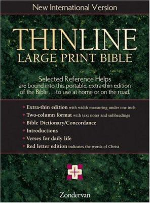 Thinline Large Print Bible-NIV 9780310916758