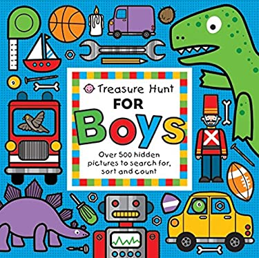 Treasure Hunt for Boys: Over 500 Hidden Pictures to Search For, Sort and Count