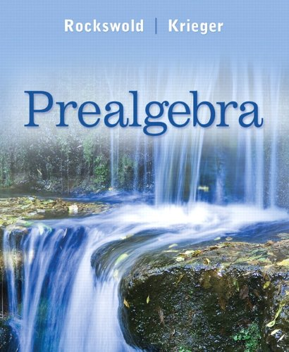 Prealgebra 9780321567994
