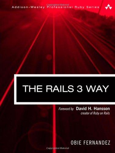The Rails 3 Way 9780321601667