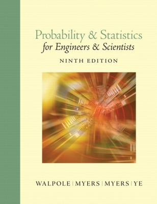 Probability & Statistics for Engineers & Scientists 9780321629111