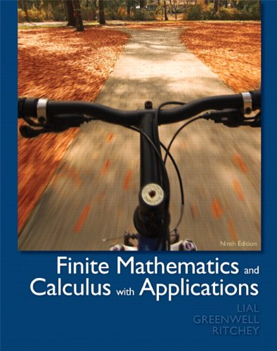 Finite Mathematics and Calculus with Applications 9780321749086