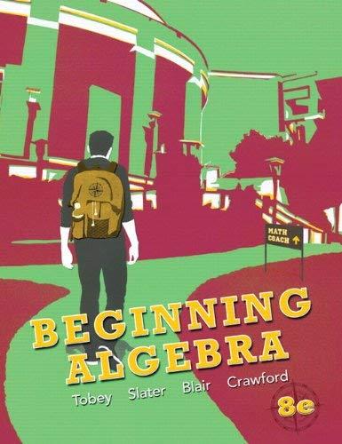 Beginning Algebra 9780321769527