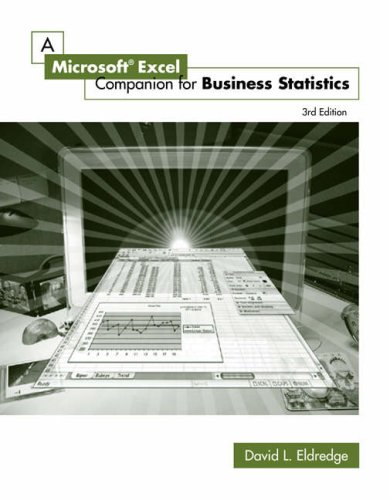 A Microsoft Excel Companion for Business Statistics [With CD-ROM] 9780324225532