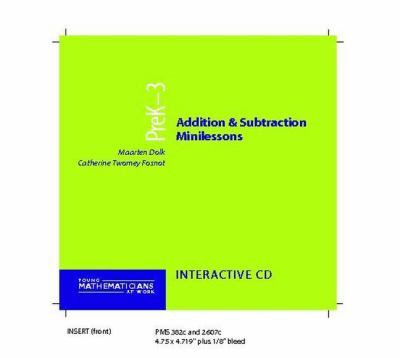 Addition and Subtraction Minilessons, Grades Prek-3 (CD) 9780325006802