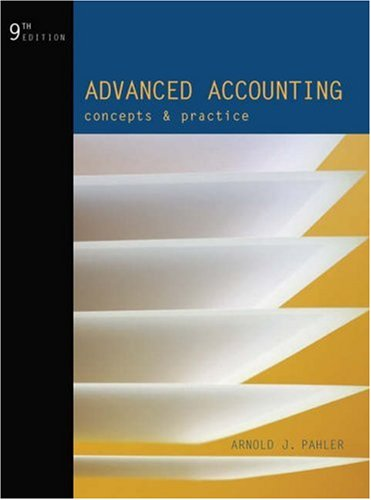 Advanced Accounting: Concepts and Practice 9780324233537