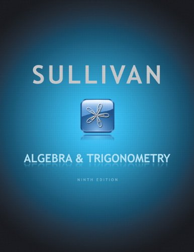 Algebra & Trigonometry 9780321716569