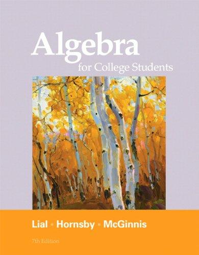 Algebra for College Students 9780321715401