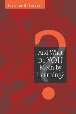 And What Do You Mean by Learning? 9780325006390