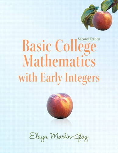 Basic College Mathematics with Early Integers 9780321726438