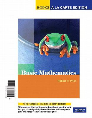 Basic Mathematics, Books a la Carte Edition 9780321588913