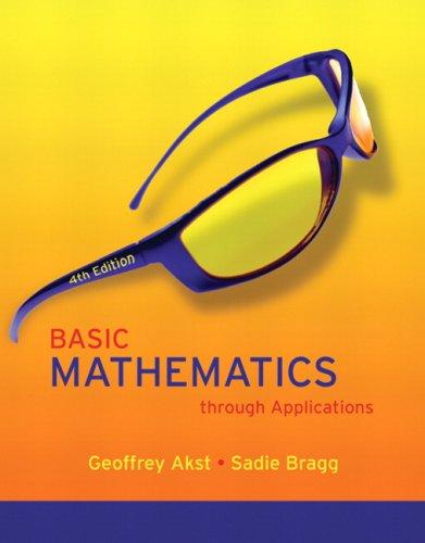 Basic Mathematics Through Applications [With CDROM] 9780321500113