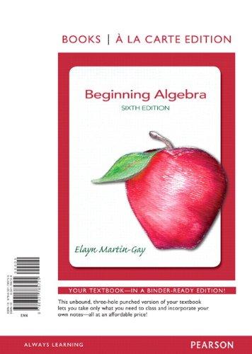 Beginning Algebra 9780321785725