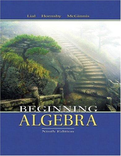 Beginning Algebra 9780321127112